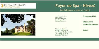 Schermafbeelding van de Foyer de Spa website